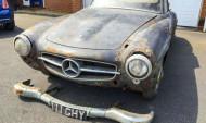 1960 թվականի Mercedes, որը 30 տարի մոռացվել է ավտոտնակում (ֆոտո)